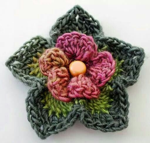 Flower crochetjewelry making pinterest flower crochet and crochet flower patterns flower mightylinksfo