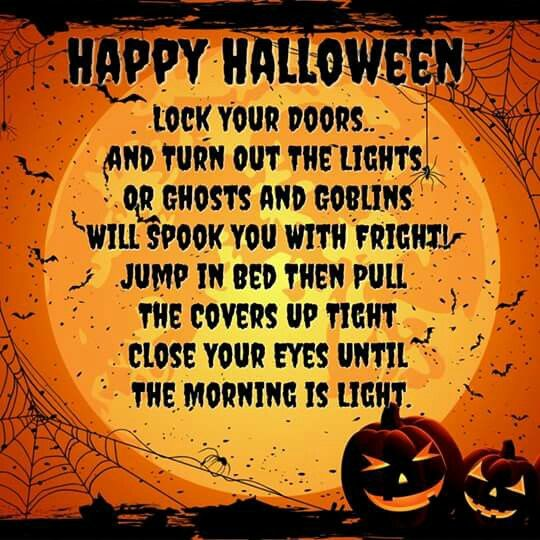 Happy Halloween Lock Your Doors Turn Out The Lights Or Ghosts And Goblins Will Spook You With Fright Jump In Bed The Altered Books Close Your Eyes Halloween