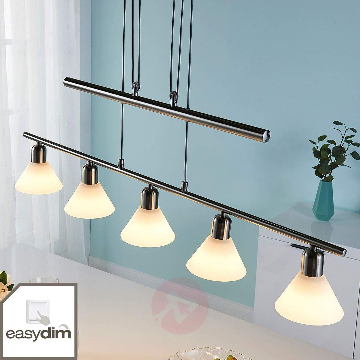 Suspension Led Eleasa Reglable Par Interrupteur Eclairage De Bureau Lamp Luminaire