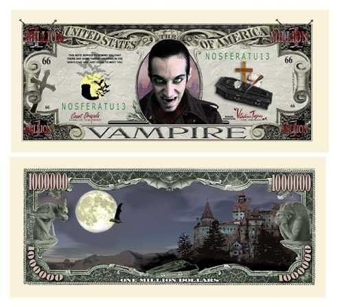 (100) THE VAMPIRE BILL Million Dollar Bill . $19.99. 100 BRAND New Novelty Bills