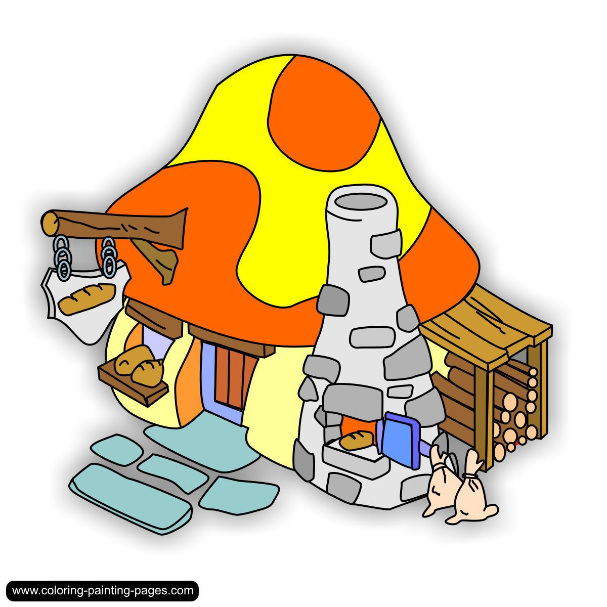 Cartoon Characters Houses : Pin by kelly brown on smurfs pinterest village houses