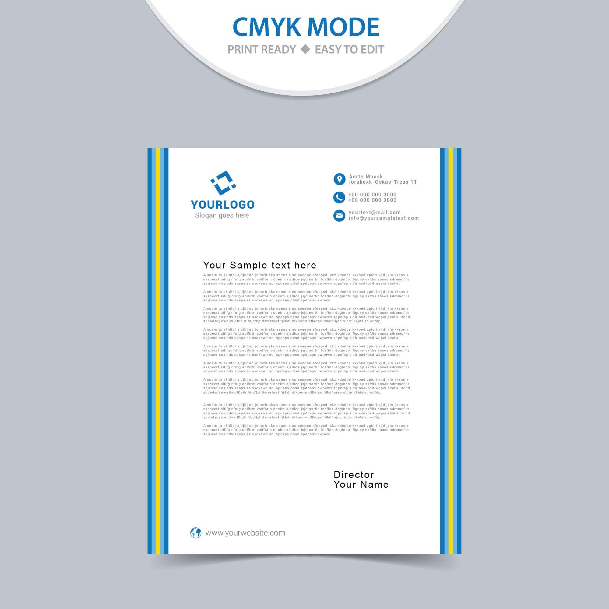letterhead template word free download