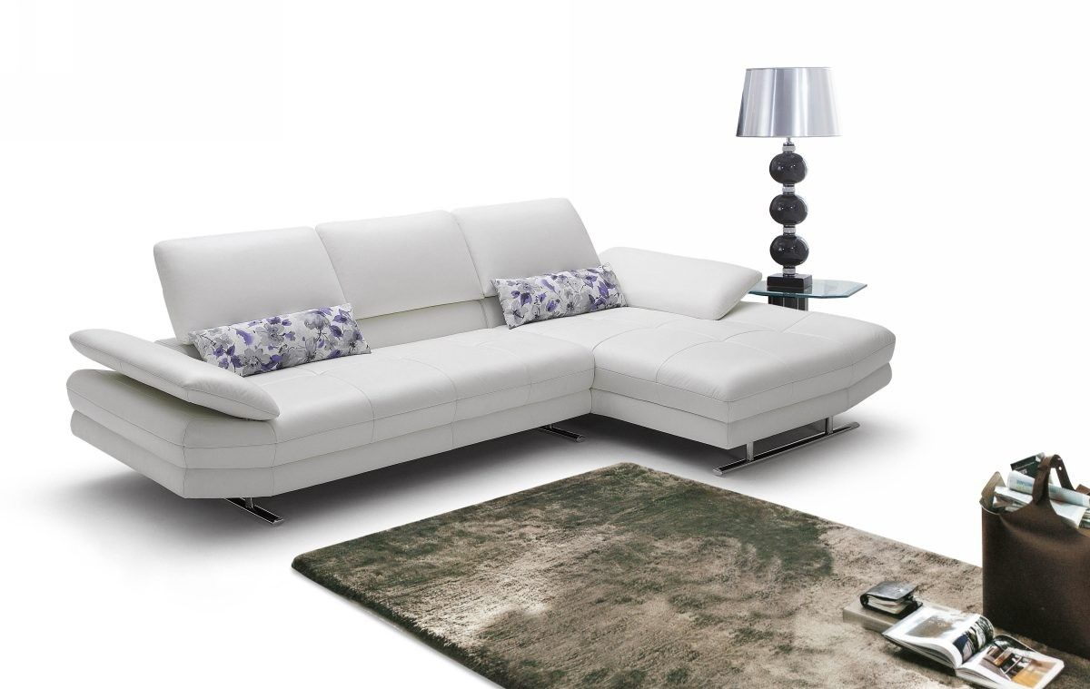 Italian Leather Sofa Set Furniture In White 3102 5 Features