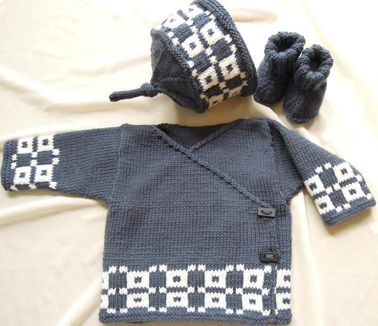 Baby Kimono Top Boots And Hat P017 Baby Kimono Knitting