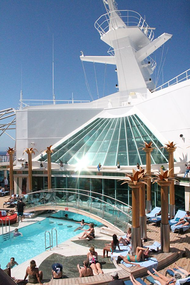 Relax at the Solarium on Liberty of the Seas. #cruise