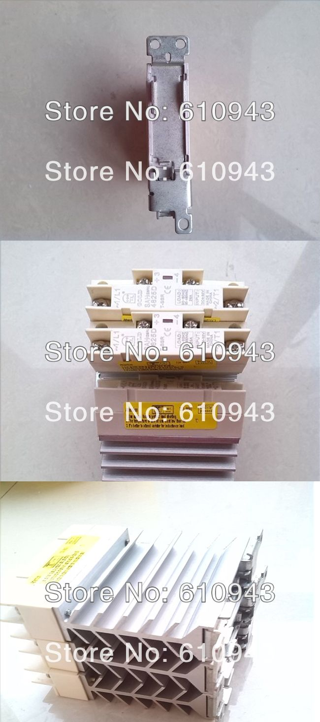 Wholesale Ac Ssr With Heatsinksah4825dsolid State Relayssrrelay Solid Relay 230vac Relayssrrelayhight Quality