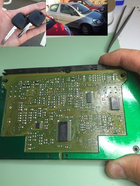 All keys lost on a Toyota Yaris  This is the ECU board  We
