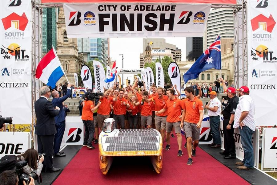 World Champion Solar Car Racing Winner