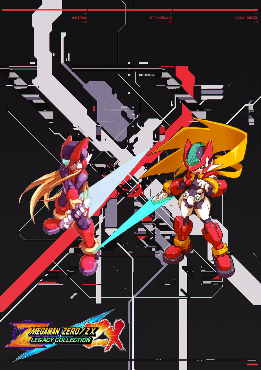 Megaman Zero Zx Legacy Collection Wallpaper Megaman Zero Mega Man Capcom Art