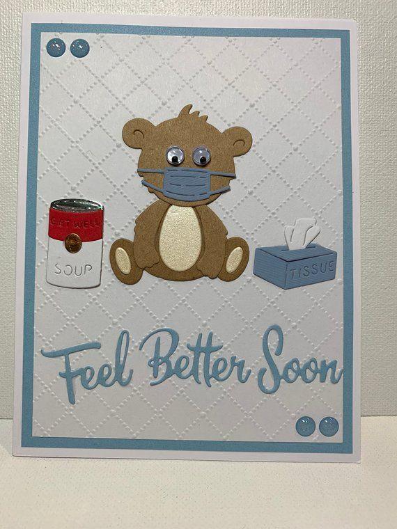 get well card feel better soon card handmade get well