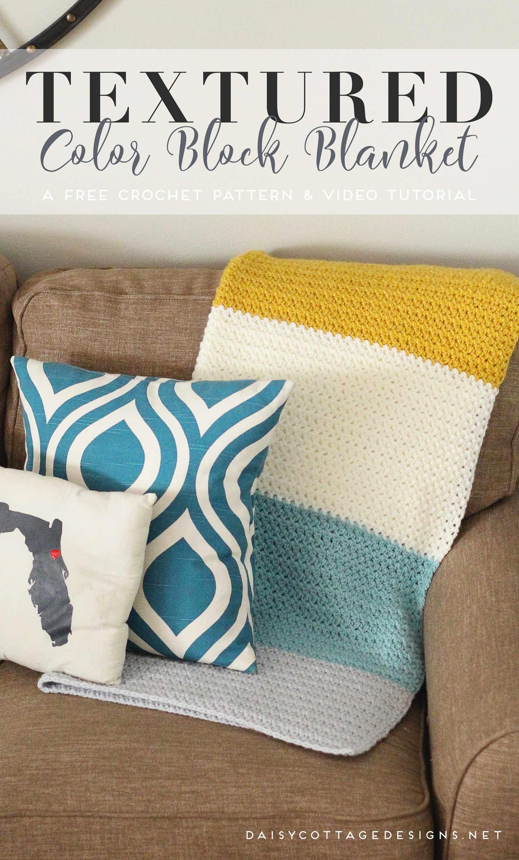 Color Block Blanket Crochet Pattern   Pinterest   Colchas, Telar y Manta