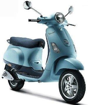 VespaLife : Nieuwe Vespa scooters : Vespa LX 50 Celeste Bromscooter