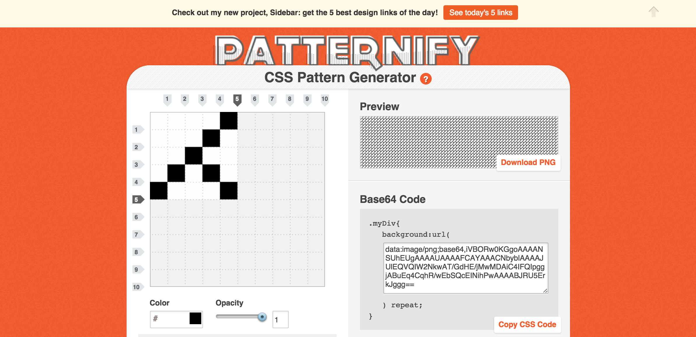 Patternify | A CSS Pattern Generator | Online Tools