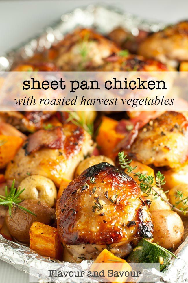 Sheet Pan Chicken and Roasted Harvest Vegetables