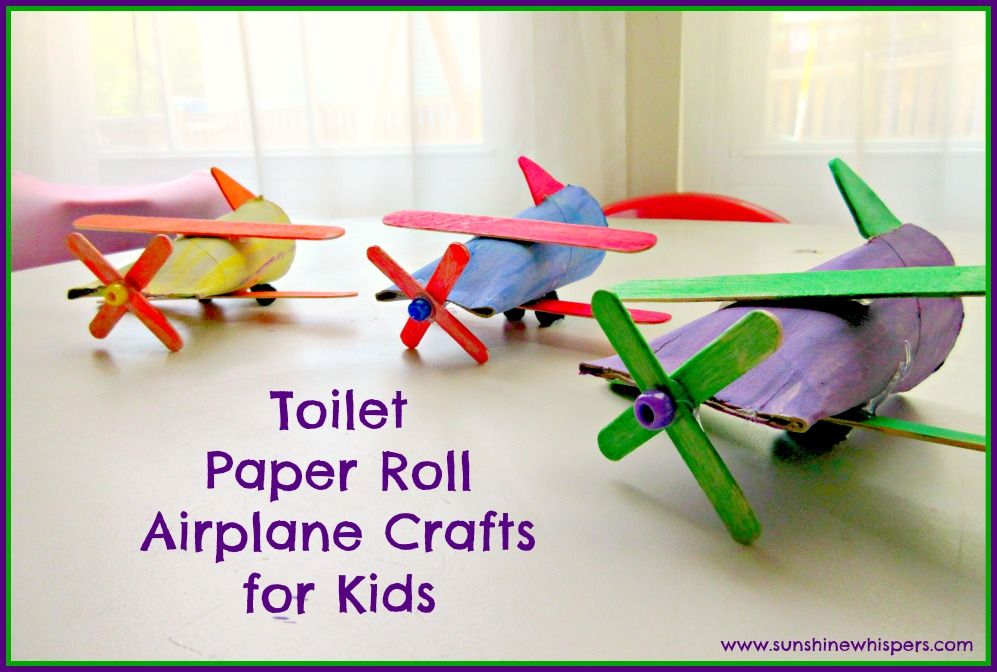 Toilet Paper Roll Airplane Crafts For Kids With Images