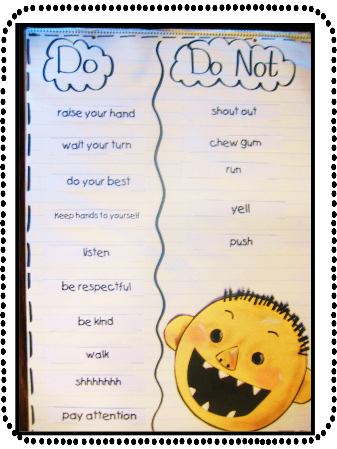 Back To School Rules Anchor Chart And David Craftivity