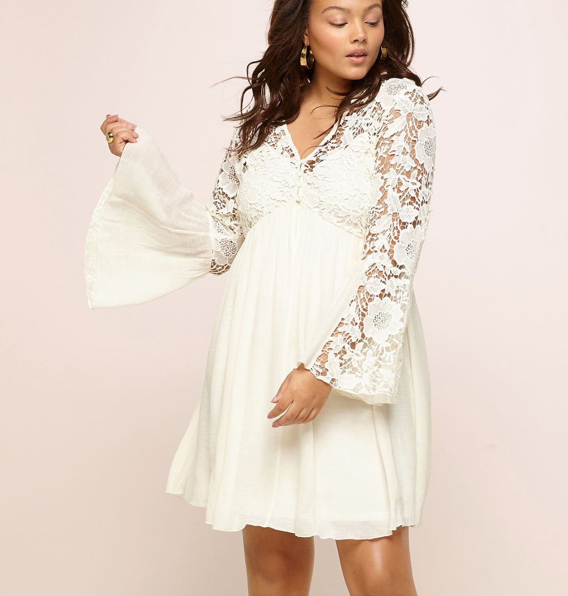 2e5035fbdcb4 Find romantic plus size dress styles like the Crochet Babydoll Dress  available online at loralette.com. Avenue Store