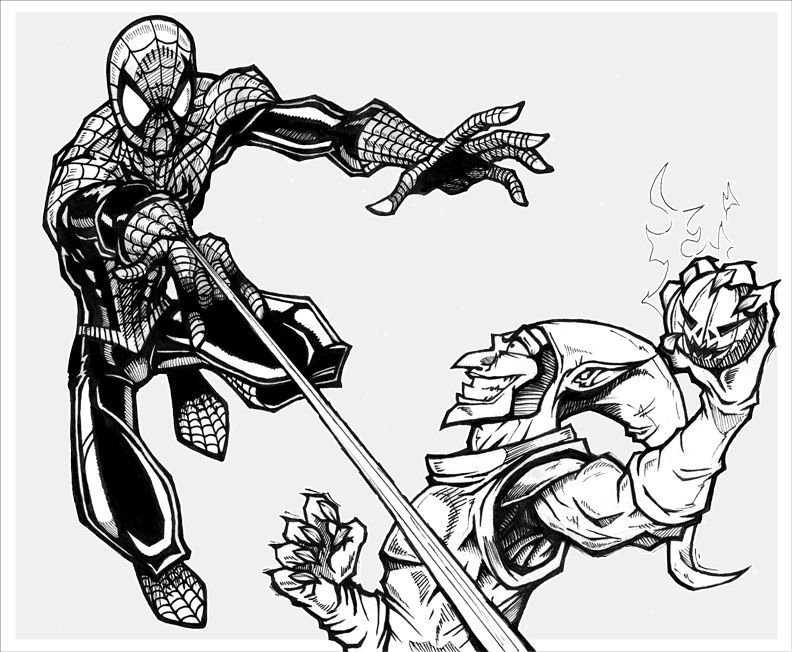 Spiderman Green Goblin Coloring Pages Avengers Coloring Pages Spiderman Coloring Superhero Coloring Pages