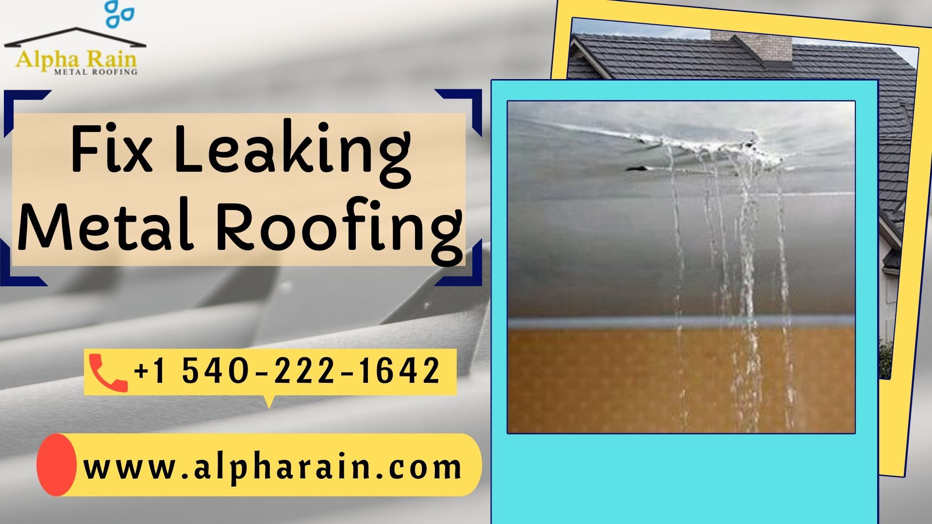 Fix A Leaking Metal Roof With These Five Steps Metal Roof Metal Roof Leaks Roof Repair