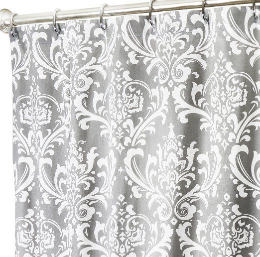 Fabric Shower Curtains Gray Shower Curtain Bathroom Curtains