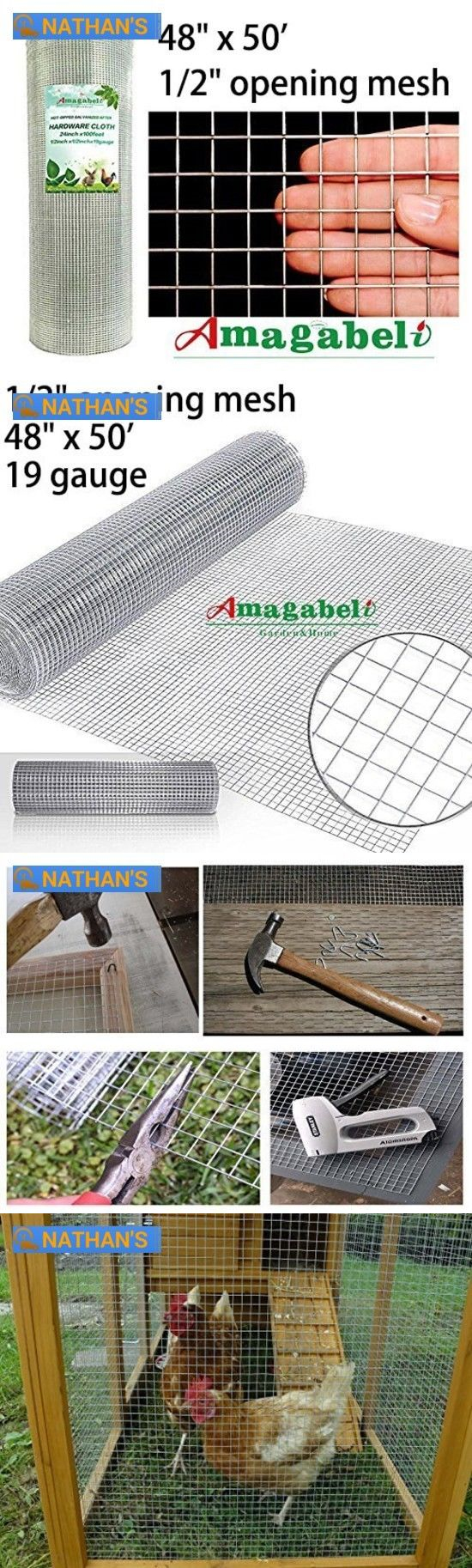 Hardware Cloth Metal Mesh 180985: 48 X 50 1 2Inch Galvanized ...