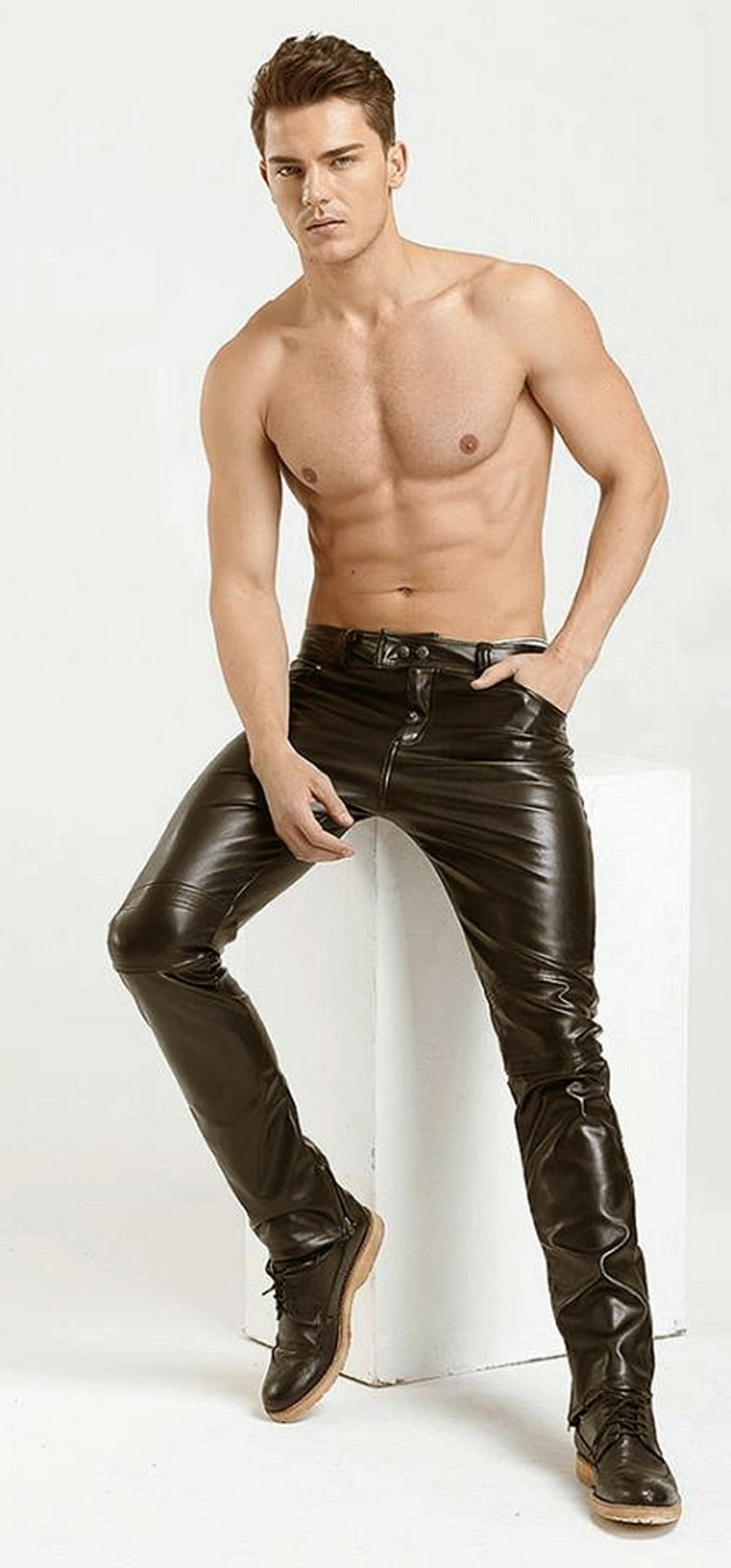 dc1aa79f2 good looking guy in leather pants | Men in Leather | Mens leather ...