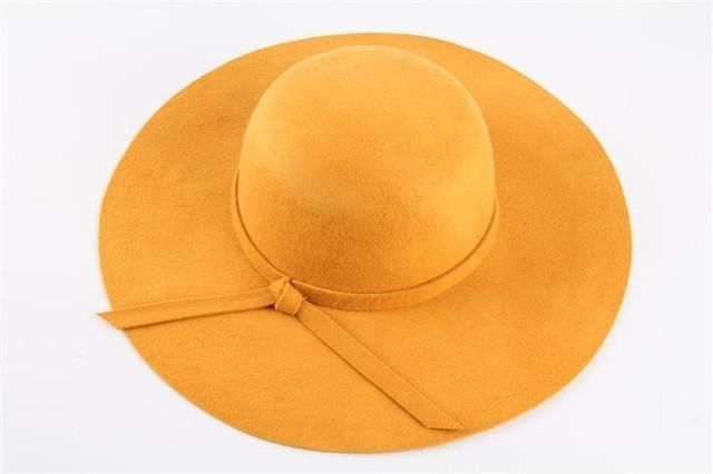 86b8994f5c6 Fabulous (13 Colors) High Quality 100% Wool Fashion Vintage Women Ladies  Wide Brim Wool Felt Fedora Cloche Hat is ideal for Synagogue and Temple in  modesty ...