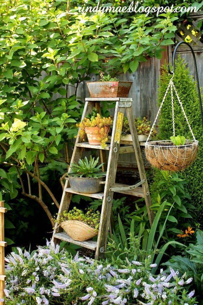 Image Result For Landscape With Wooden Ladders Garden
