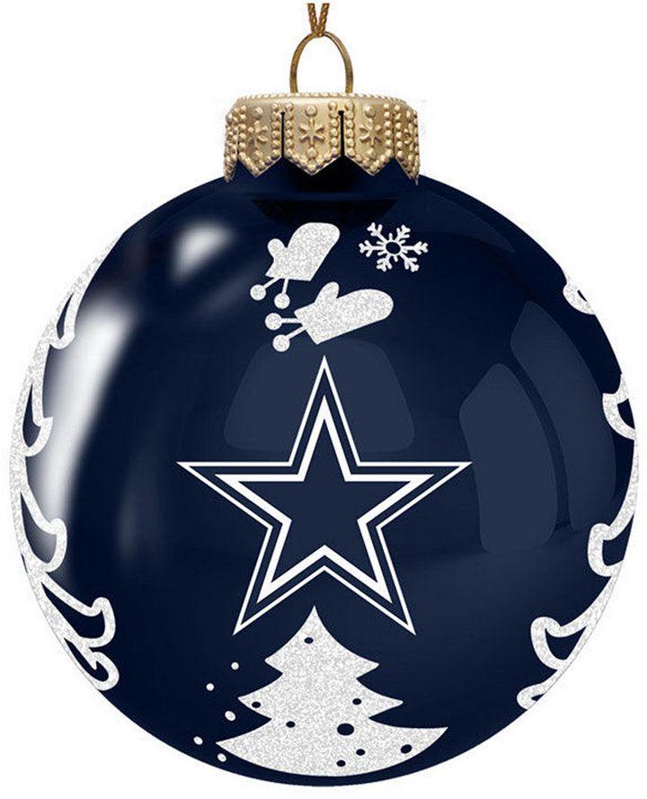 Memory Company Dallas Cowboys Glass Christmas Tree Ornament - Blue