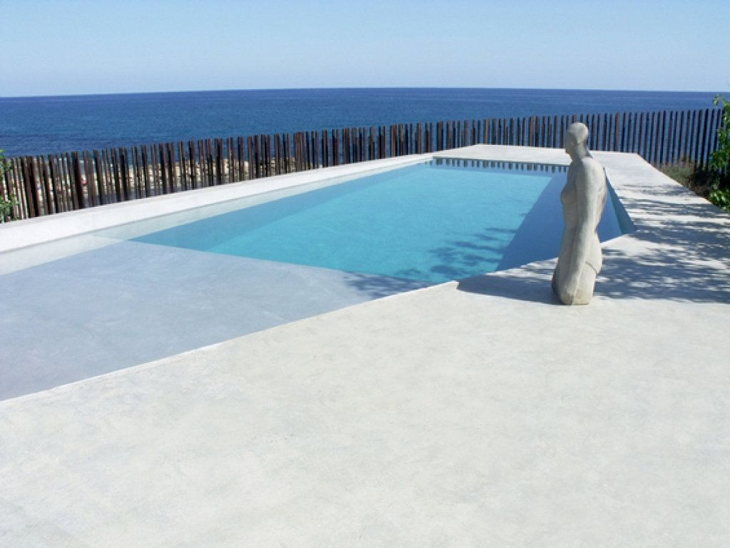 Hormigon pulido exterior blanco buscar con google small pools pinte - Suelo de microcemento pulido ...
