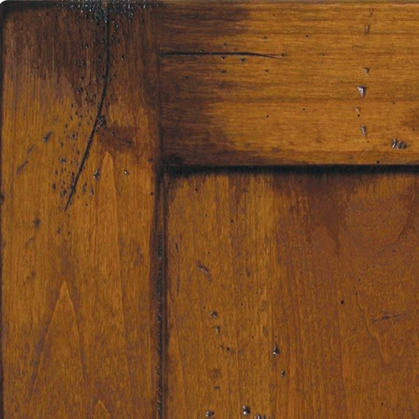 Old Knotty Pine Cabinets: Old World Distressing:: Huntwood Custom