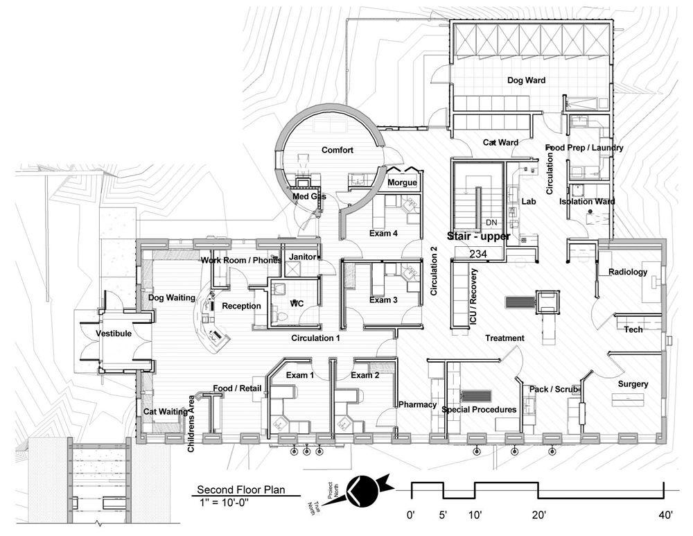 Floor plan Barn and isolation Hospital Design