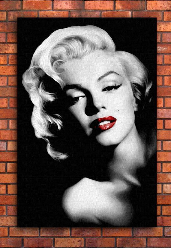 Marilyn Monroe Red Lips Canvas Art Print A1 By ReverieLanePrints