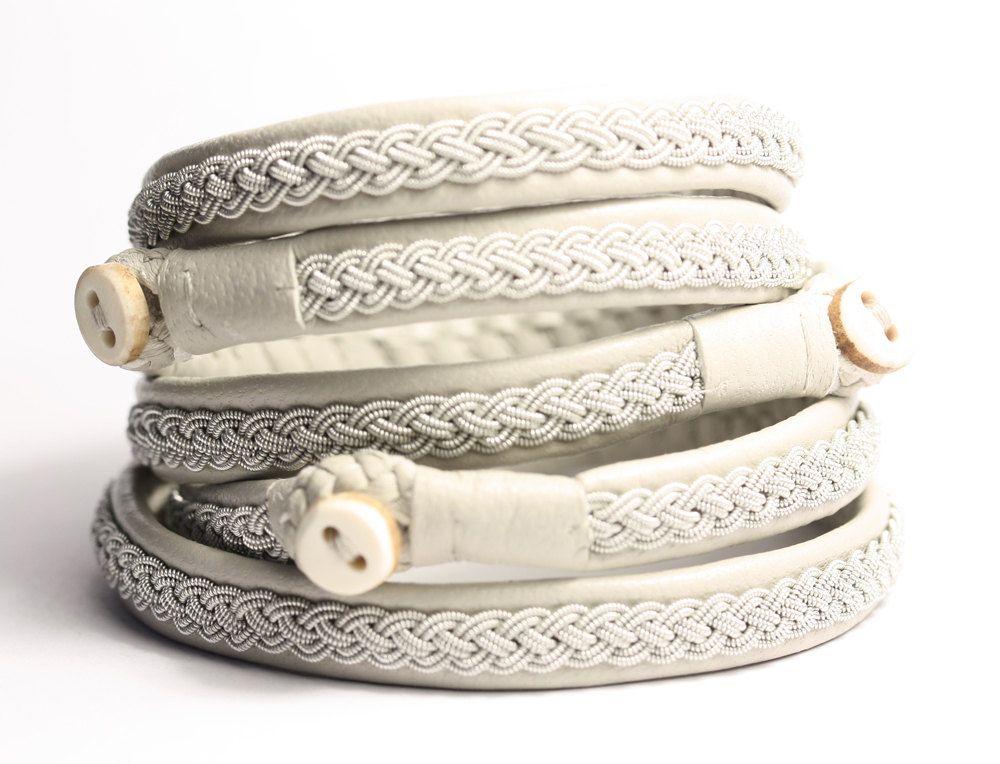 Swedish Lapland Sami Reindeer Leather Bracelet