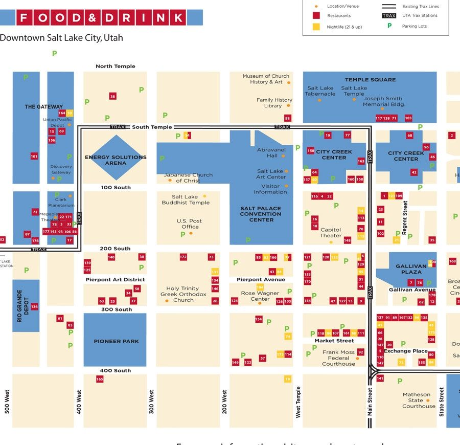 Downtown Salt Lake City Living: Date Night Downtown SLC - Food & Drink Map Of City