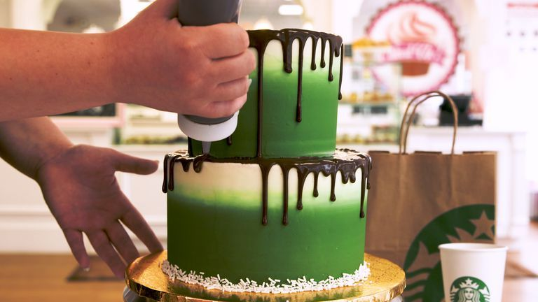 WATCH: Starbucks Lovers Will Be Hypnotized By This Cake Decorating Process