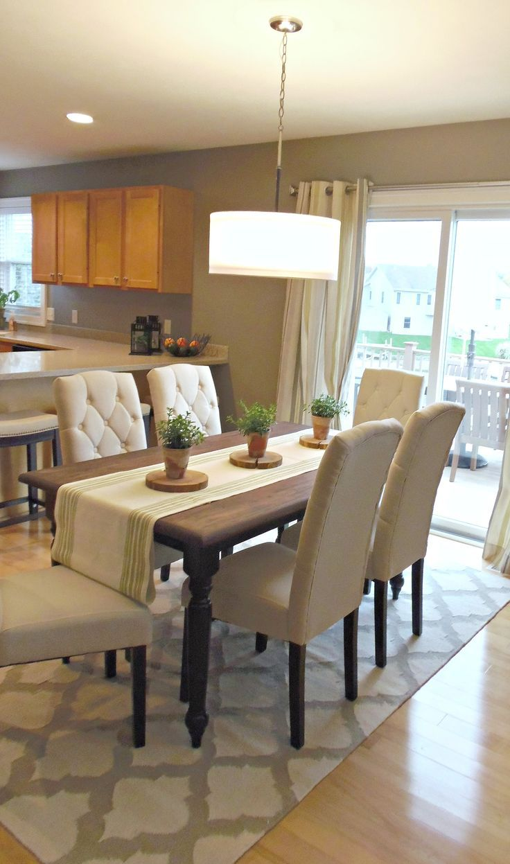 Breakfast Island Nook Styling Dining Room Table Centerpieces Dining Room Table Decor Beige