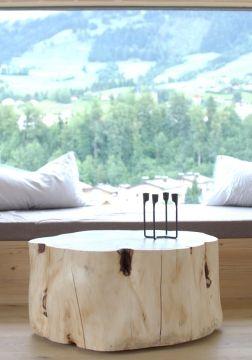 Pine Table Zirbenholz Wohnzimmertisch Auf Rollen