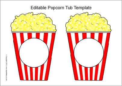 Editable Popcorn Tub Templates Sb11152 Sparklebox Popcorn