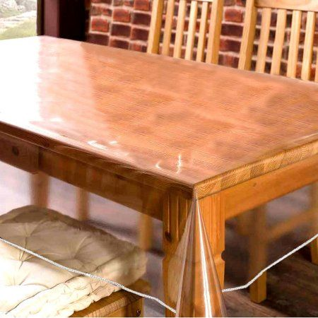 balsacircle clear plastic vinyl tablecloth protector table cover
