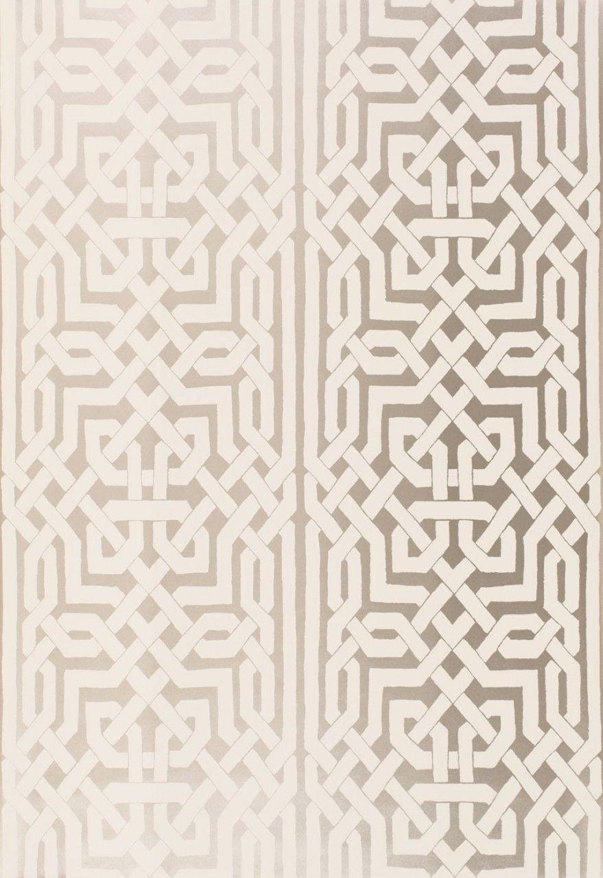 Lynn Chalk - Schumacher Malaga Wallpaper Silver, $67.99…