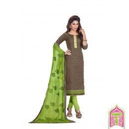 Unstitched Salwar Kameez Stepping fashion parrot green color Designer Salwar Suit