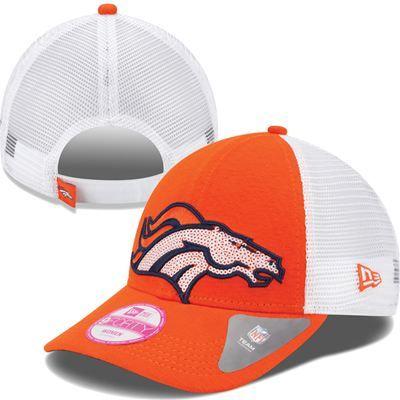 Denver Broncos New Era NFL Women's 9Forty Sequin Shimmer Hat (Orange)