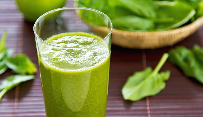 Grüner Melonen-Spinat-Smoothie