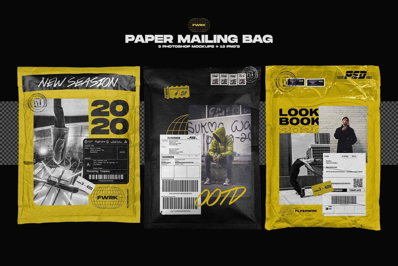 Download Paper Mailing Bag Mockups Bag Mockup Packaging Mockup Graphic Design Resources