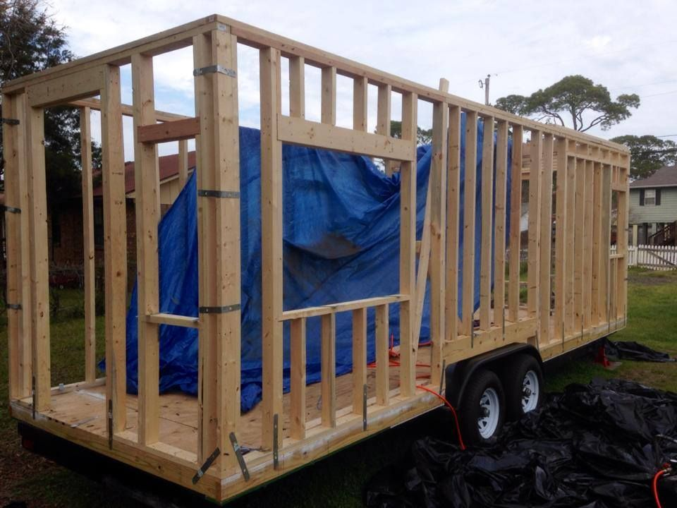 How To Frame A Tiny House On A Trailer Google Search