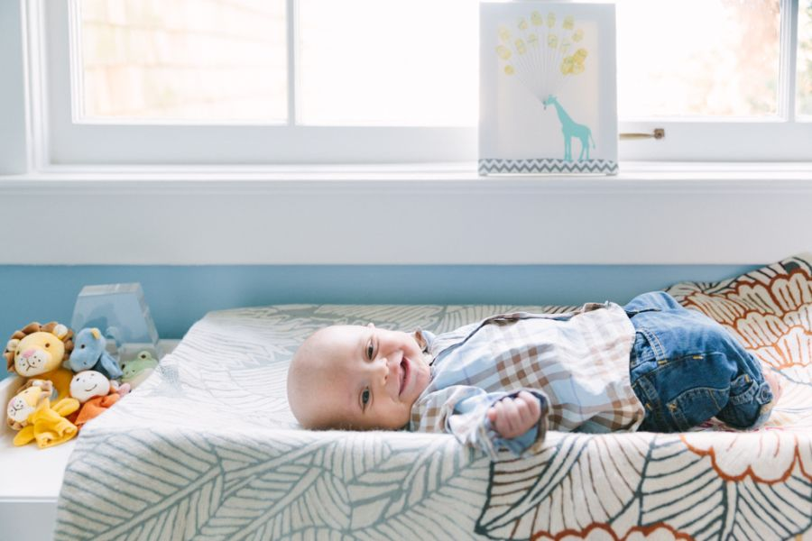 Photography : Tamra Berkhaug For Homepolish Read More on SMP: http://www.stylemepretty.com/living/2016/01/03/sweet-blue-san-francisco-nursery-from-homepolish/