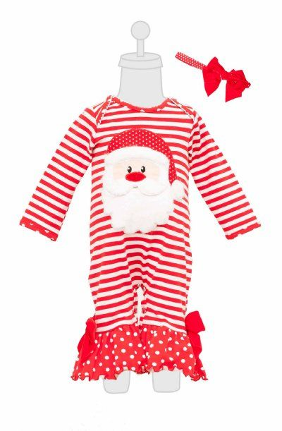 pc santa stripe onesie with headband 0d 0anow in stock