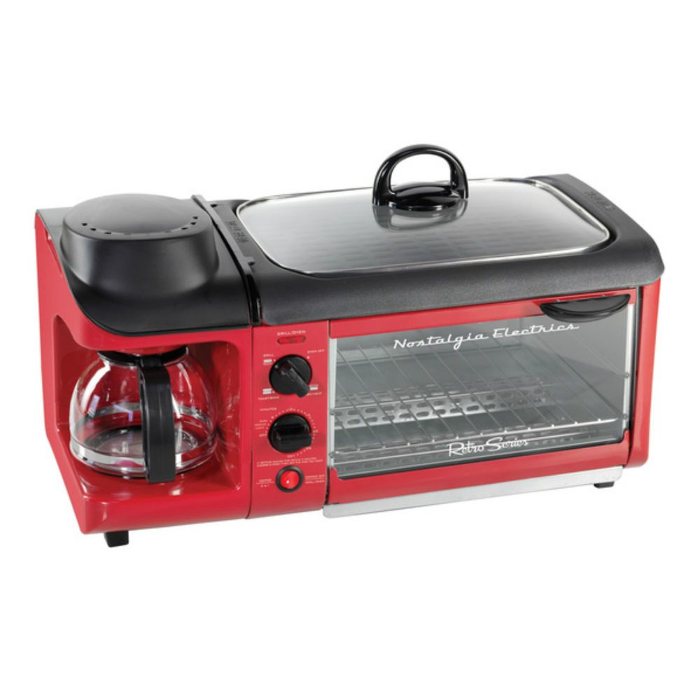 College Dorm Room Accessories Cooking Appliances Coffee Maker Toaster Oven  Red #NostalgiaElectrics Part 61