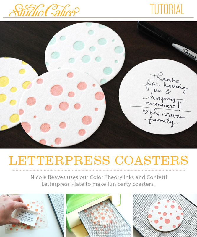 Letterpress Party Coasters Tutorial with Nicole Reaves @Studio_Calico